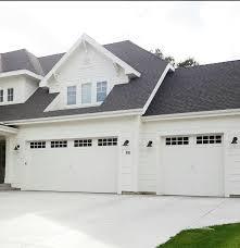 garage door options all white house black roof white shaker