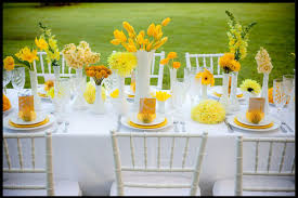 home design dazzling table decoration for party yellow floral