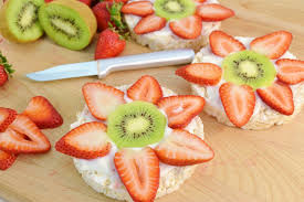 fruit treats healthy rice cake fruit snack fruit and yogurt delight rada
