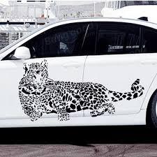 Diy Car Decor Cheetah Wall Sticker Living Room Home Decoration Car Decor