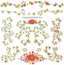 free floral ornaments vector 123freevectors