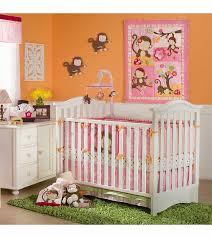 Crib Bedding Monkey Kidsline Miss Monkey 4 Crib Bedding Set