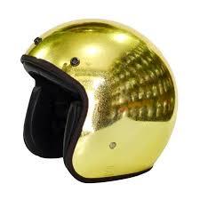 Helm Catok fino helmet retro chrome glitter helm half gold hp