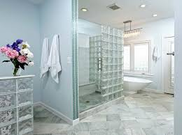 glass block designs for bathrooms glass block walls windows highlight modern bath remodel modern