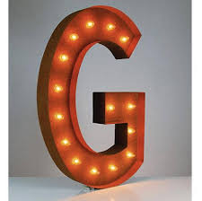 36 u201d letter g lighted vintage marquee letters rustic buy