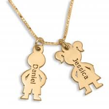 necklace with kids names gold plated hebrew name necklaces personalized name jewelry