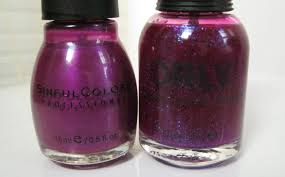 lacquer slacker liz addendum orly purple poodle over sinful