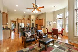 Ceiling Fan In Dining Room Quality Craftsman Home In Woodstock