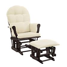 amazon com windsor glider and ottoman white with gray cushion