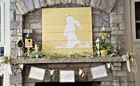 here comes peter cottontail spring mantel fox hollow cottage