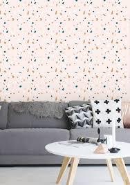 removable wallpaper terrazzo wallpaper confetti wallpaper