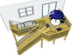 free 2nd story deck design plans high elevation decks second story