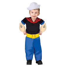 childs halloween costumes amazon com popeye toddler costume clothing