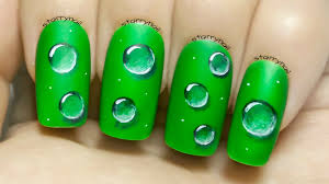 water droplets freehand nail art tutorial youtube