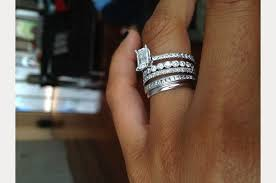 wedding band with engagement ring stacked wedding ring styles that ll leave you breathless mon