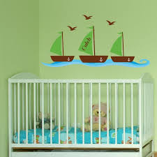 Nursery Wall Decals Nautical Decals For Nursery Personalized Nautical Wall Decals