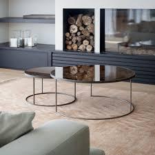 coffee table alpine modern nest of 2 oak tables wooden coffee side
