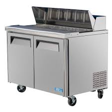 48 inch sandwich prep table used turbo air 48 inch 15 cu ft 2 door single hood refrigerated food