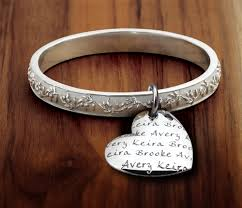 ring with children s names s heart olive branch bangle bracelet