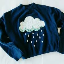 cloud sweater h m h m it blue sequin cloud sweater from sheena s