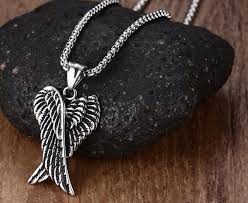 wings necklace pendant images Guardian angel wings necklace pendant darkened heavy stainless jpg