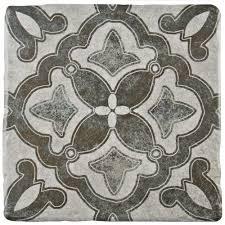 Floor Tile And Decor Merola Tile Costa Cendra Decor Clover 7 3 4 In X 7 3 4 In