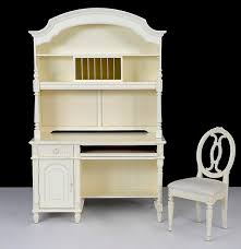 Desk With Top Shelf Thomasville Desk With Top Hutch And Oval Back Chair Ebth
