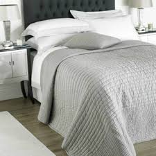 100 cotton chalon dove grey bedspread throw 265x265cms for double