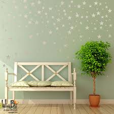 silver stars wall decals for outer space nursery decor zoom