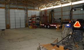 garage barn door height for tractor backhoe