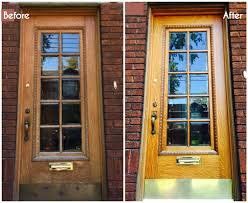 How To Refinish An Exterior Door The Easy Way by How To Restore Your Old Wood Front Door 6 Steps With Pictures