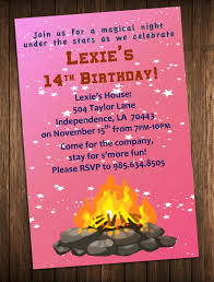 Lohri Invitation Cards Bonfire Party Invitation Outdoor Campfire Birthday Party