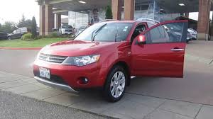 red mitsubishi outlander 2009 mitsubishi outlander red stock 13 3264a youtube