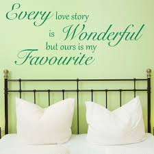 our love story quote wall sticker world of wall stickers