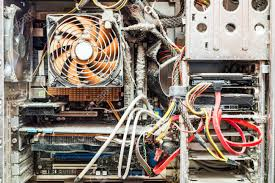 nonworking the main components of the outdated dusty and non working