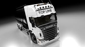 scania truck tanker glass 3d obj
