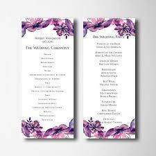 purple wedding programs 91 best wedding programs images on menu receptions