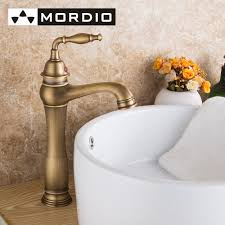 designer bathroom taps promotion shop for promotional freeshipping taps vintage style single control rustic bathroom faucet antique copper finish sink with porcelain