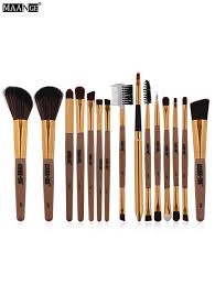 makeup tools brown maange 15pcs multipurpose makeup brushes set