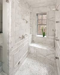 sweet looking marble bathroom tile ideas carrara white design