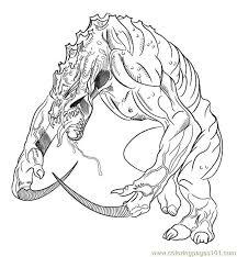Monsterlizard1 Coloring Page Free Lizard Coloring Pages Reptile Coloring Pages