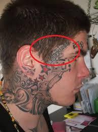 men show simple nice one face tattoo design tattooshunter com