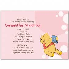 winnie the pooh baby shower winnie the pooh baby girl shower invitations bs106