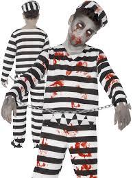 convict halloween costumes childrens zombie convict prisoner costume boys halloween fancy
