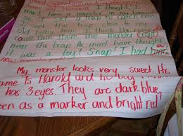 monster writing paper halloween here is the story i tried to zoom in so you could read the first page