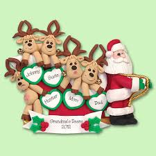 items similar to santa reindeer family of 5 handmade polymer