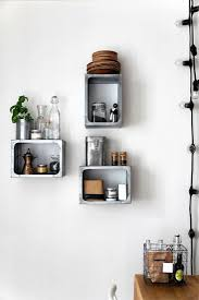 wall mounted kitchen shelves modern kitchen decor with open wall