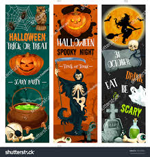 halloween trick treat night spooky party stock vector 726148864