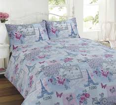 Eiffel Tower Bedding Dream Patchwork Duvet Cover Quilt Bedding Set Pink King Size
