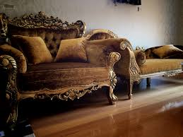 rococo french baroque chair and chaise lounge gold antique